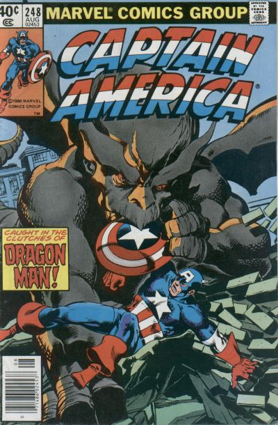 Cover for Captain America (Marvel, 1968 series) #248 [Newsstand Edition]