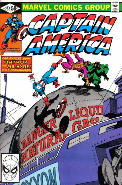 Cover for Captain America (Marvel, 1968 series) #252 [Direct Edition]