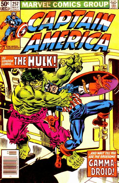 Cover for Captain America (Marvel, 1968 series) #257 [Newsstand]