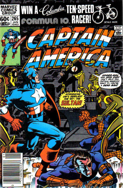 Cover for Captain America (Marvel, 1968 series) #265 [Newsstand]