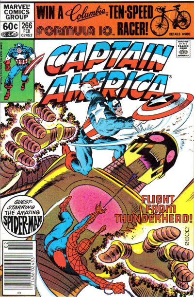 Cover for Captain America (Marvel, 1968 series) #266 [Direct Edition]