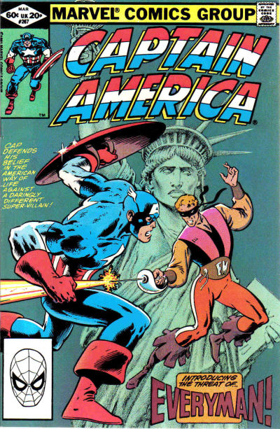 Cover for Captain America (Marvel, 1968 series) #267 [Newsstand Edition]