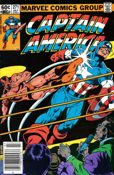 Cover for Captain America (Marvel, 1968 series) #271 [Newsstand Edition]
