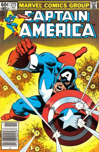 Cover for Captain America (Marvel, 1968 series) #275 [Newsstand Edition]