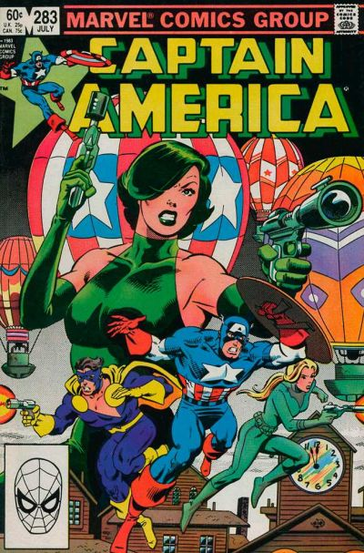 Cover for Captain America (Marvel, 1968 series) #283 [Newsstand Edition]