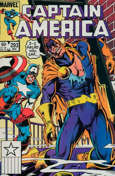 Cover for Captain America (Marvel, 1968 series) #293 [Direct Edition]