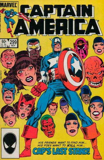 Cover for Captain America (Marvel, 1968 series) #299 [Direct Edition]