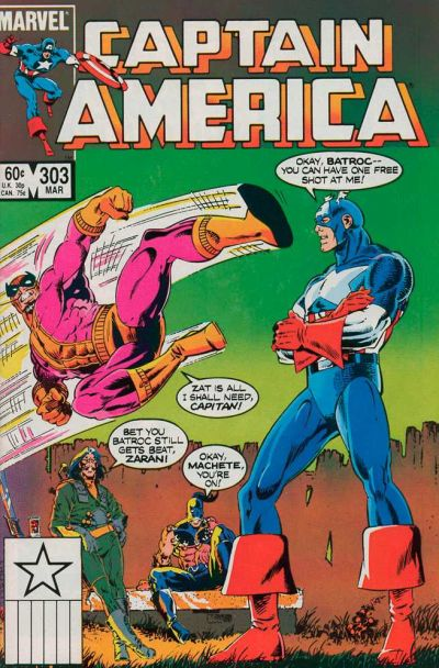 Cover for Captain America (Marvel, 1968 series) #303 [Newsstand Edition]