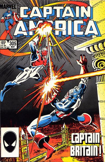 Cover for Captain America (Marvel, 1968 series) #305 [Newsstand Edition]