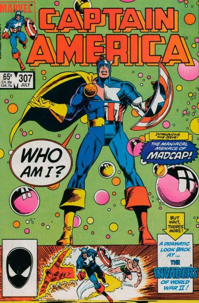Cover for Captain America (Marvel, 1968 series) #307 [Direct Edition]