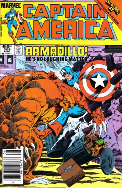 Cover for Captain America (Marvel, 1968 series) #308 [Newsstand Edition]
