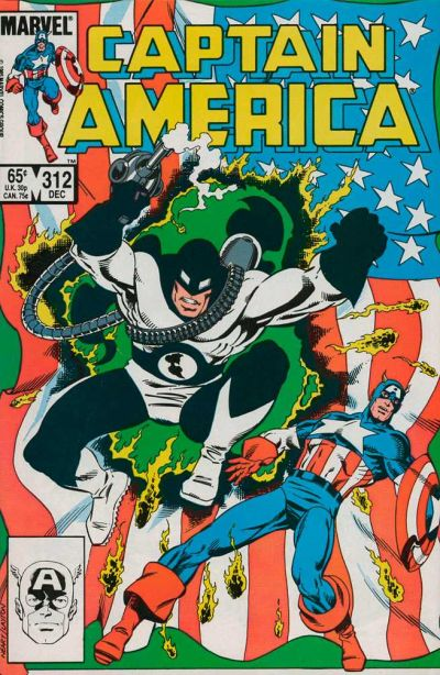Cover for Captain America (Marvel, 1968 series) #312 [Newsstand Edition]