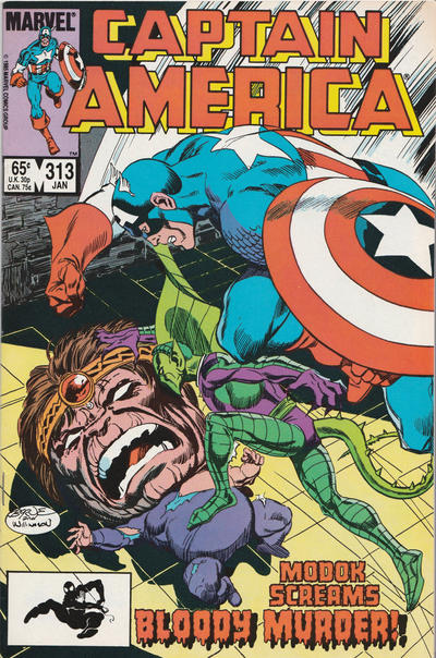 Cover for Captain America (Marvel, 1968 series) #313 [Direct Edition]