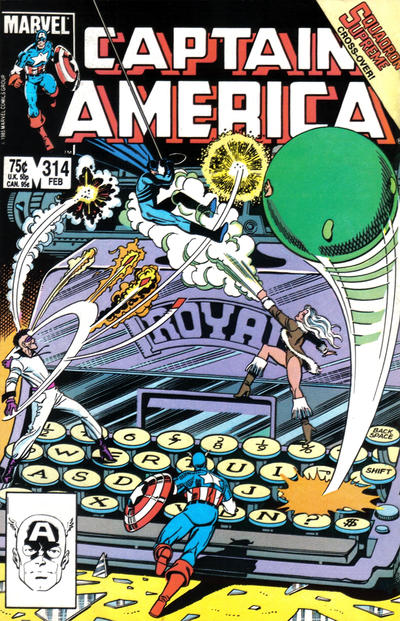 Cover for Captain America (Marvel, 1968 series) #314 [Direct Edition]