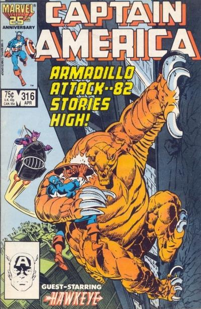 Cover for Captain America (Marvel, 1968 series) #316 [Direct Edition]