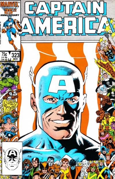 Cover for Captain America (Marvel, 1968 series) #323 [Newsstand Edition]