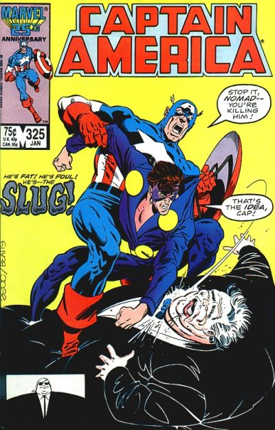 Cover for Captain America (Marvel, 1968 series) #325 [Direct Edition]