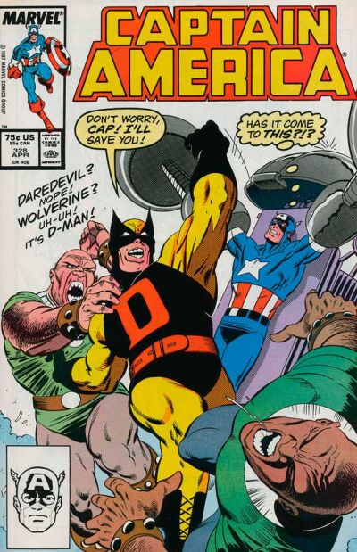 Cover for Captain America (Marvel, 1968 series) #328 [Direct Edition]