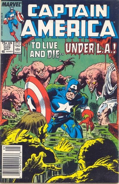 Cover for Captain America (Marvel, 1968 series) #329 [Newsstand Edition]