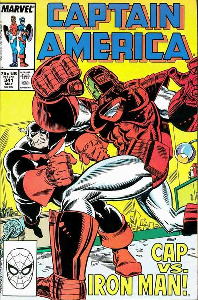 Cover for Captain America (Marvel, 1968 series) #341 [Direct Edition]