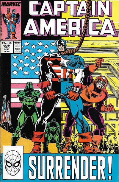 Cover for Captain America (Marvel, 1968 series) #345 [Direct Edition]