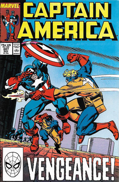 Cover for Captain America (Marvel, 1968 series) #347 [Direct Edition]