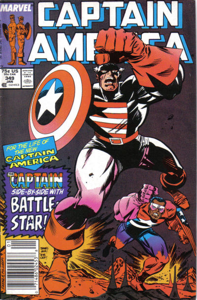 Cover for Captain America (Marvel, 1968 series) #349 [Direct Edition]