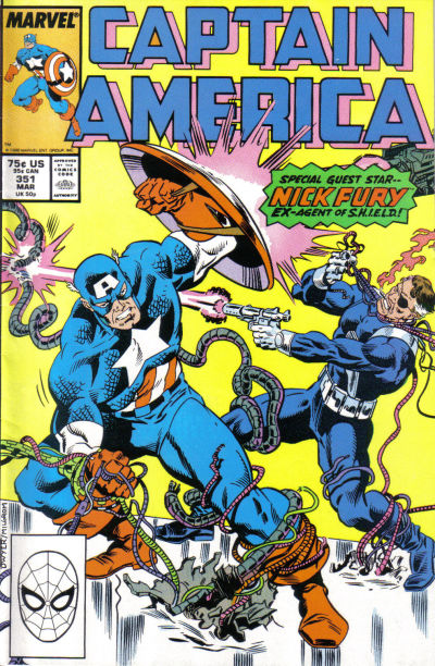 Cover for Captain America (Marvel, 1968 series) #351 [Direct Edition]