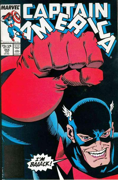 Cover for Captain America (Marvel, 1968 series) #354 [Direct Edition]