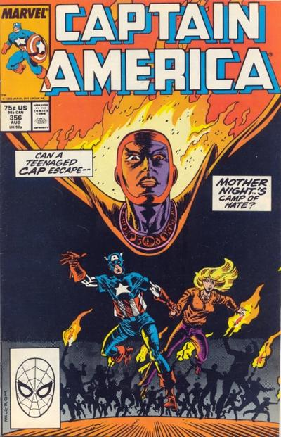 Cover for Captain America (Marvel, 1968 series) #356 [Direct Edition]
