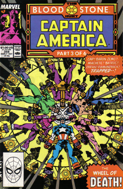 Cover for Captain America (Marvel, 1968 series) #359 [Direct Edition]