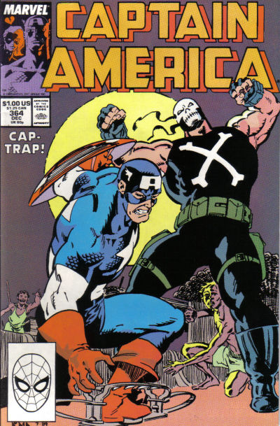 Cover for Captain America (Marvel, 1968 series) #364 [Direct Edition]