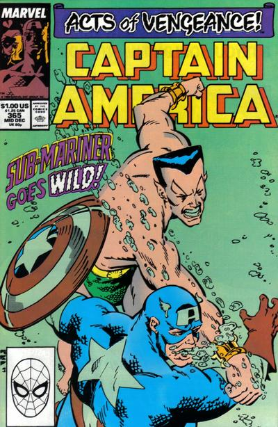 Cover for Captain America (Marvel, 1968 series) #365 [Direct Edition]