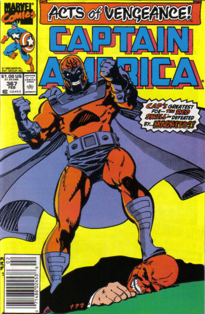 Cover for Captain America (Marvel, 1968 series) #367 [Direct Edition]