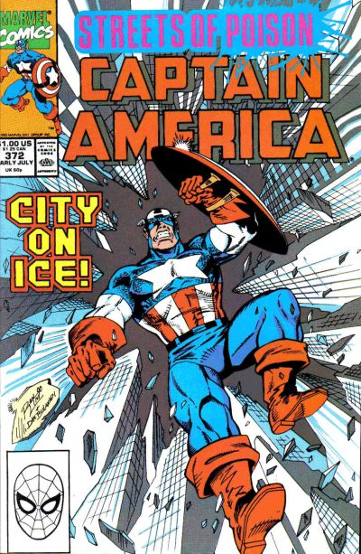 Cover for Captain America (Marvel, 1968 series) #372 [Direct Edition]