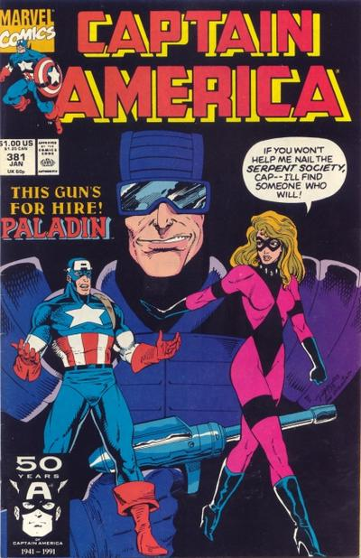 Cover for Captain America (Marvel, 1968 series) #381 [Direct Edition]