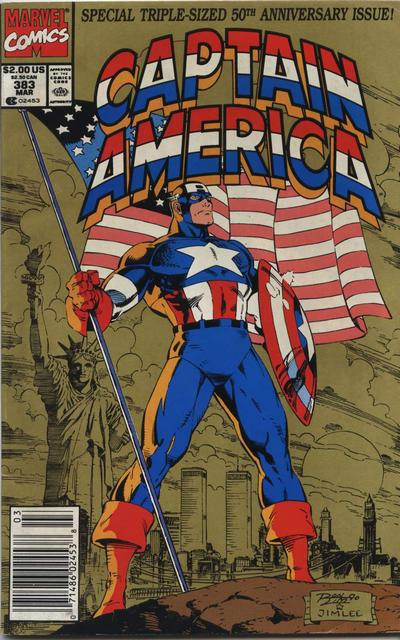 Cover for Captain America (Marvel, 1968 series) #383 [Newsstand Edition]