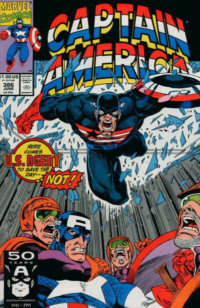 Cover for Captain America (Marvel, 1968 series) #386 [Direct Edition]