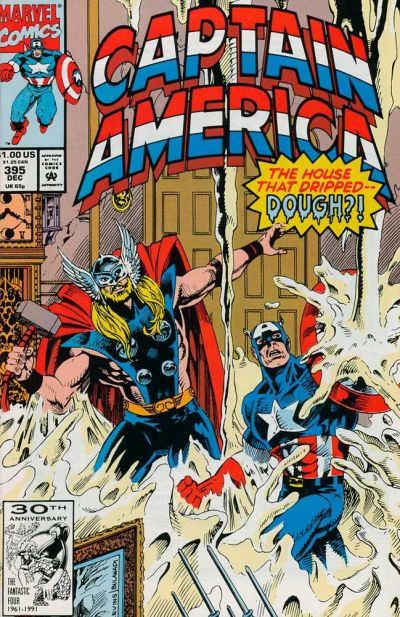 Cover for Captain America (Marvel, 1968 series) #395 [Direct Edition]