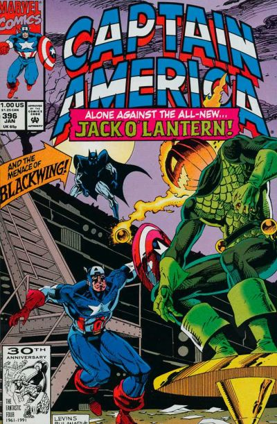 Cover for Captain America (Marvel, 1968 series) #396 [Newsstand Edition]