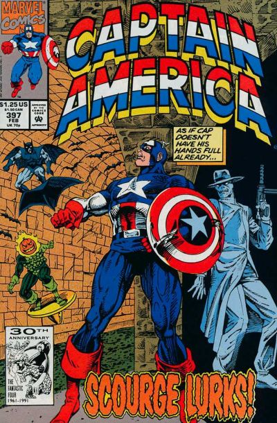 Cover for Captain America (Marvel, 1968 series) #397 [Newsstand Edition]