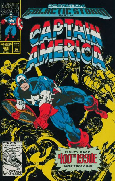 Cover for Captain America (Marvel, 1968 series) #400 [Direct Edition]