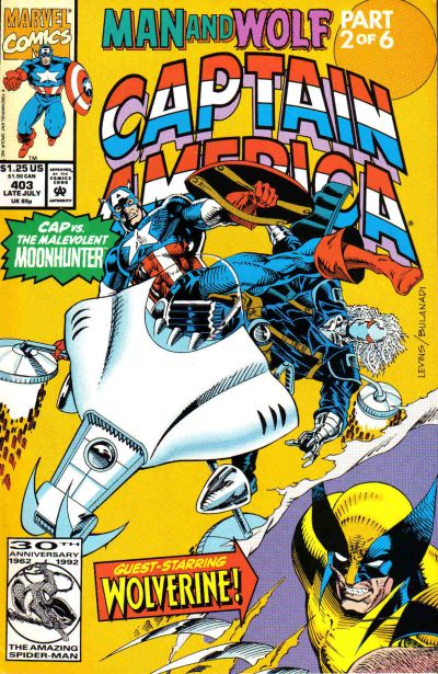 Cover for Captain America (Marvel, 1968 series) #403 [Newsstand Edition]