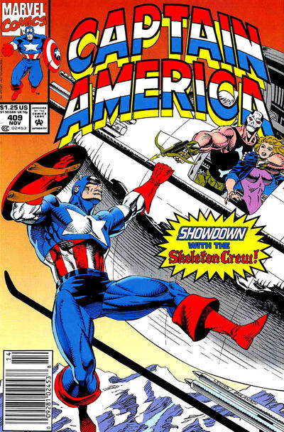 Cover for Captain America (Marvel, 1968 series) #409 [Direct Edition]