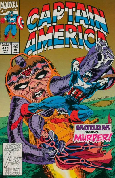 Cover for Captain America (Marvel, 1968 series) #413 [Direct Edition]