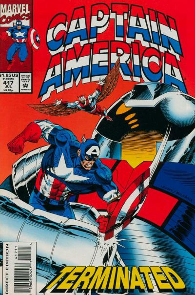 Cover for Captain America (Marvel, 1968 series) #417 [Direct Edition]