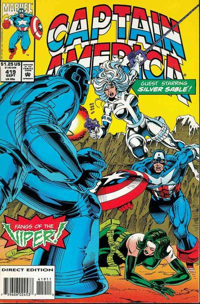 Cover for Captain America (Marvel, 1968 series) #419 [Direct Edition]