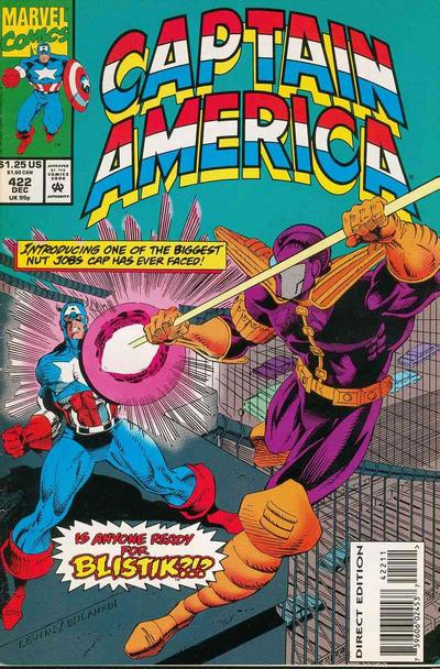 Cover for Captain America (Marvel, 1968 series) #422 [Direct Edition]