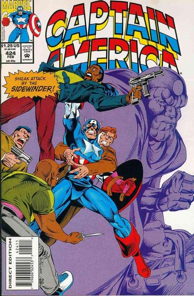 Cover for Captain America (Marvel, 1968 series) #424 [Direct Edition]