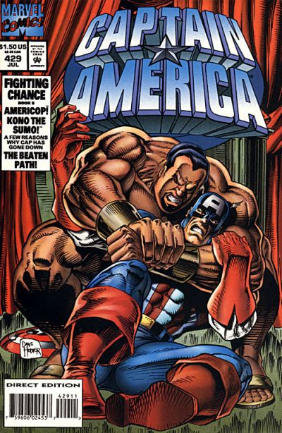 Cover for Captain America (Marvel, 1968 series) #429 [Direct Edition]